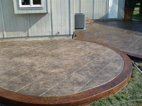 colored concrete patio concrete patio ideas spaces with concrete driveway