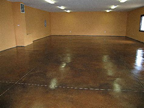 Concrete acid stain, variety of colors and sealer from