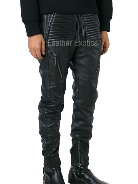 style men leather track pant leatherexotica