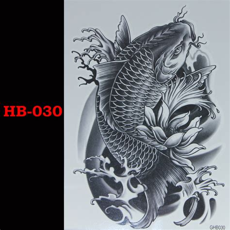 black fish temporary tatto waterproof men women tattoo arm