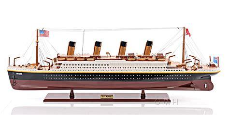 titanic toy boat uk rms titanic ocean liner wooden model 40 quot white star line