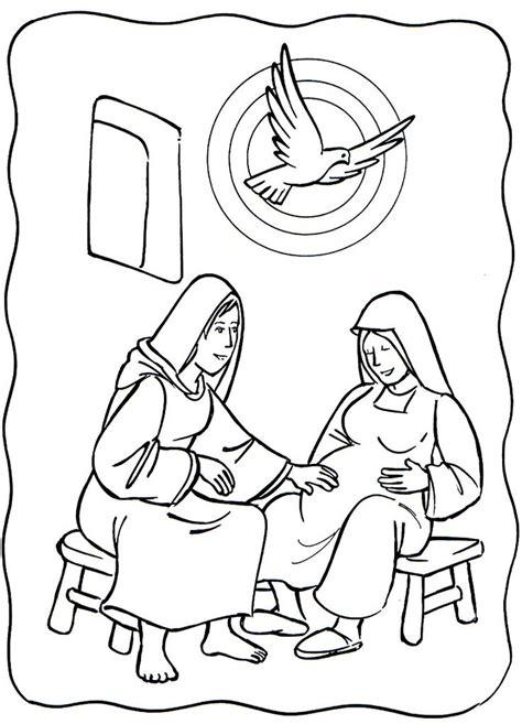 coloring pages elizabeth 1 luke 1 39 56 visited elizabeth elizabeth