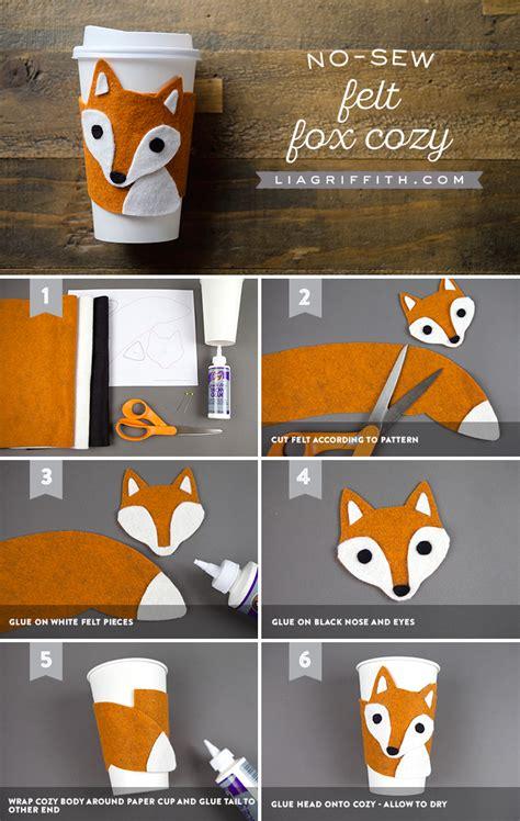 Fox Bahan Craft Diy no sew diy cup cozy 6 steps