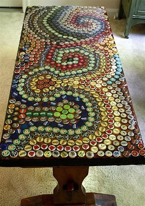 Bottle Top Table by Diy Ideas With Bottle Tops Hative