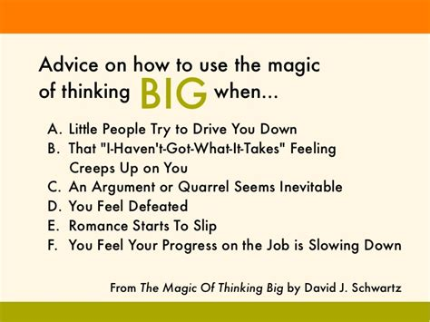 Thinking Big how to use the magic of thinking big