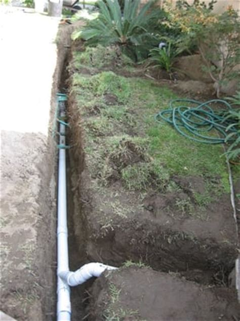 sump in backyard drain piping to a sump which pumps collected