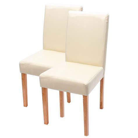stuhl creme 2x esszimmerstuhl stuhl lehnstuhl littau leder creme
