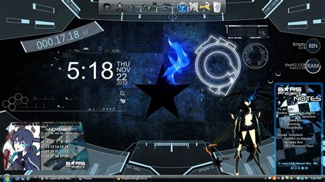 black rock shooter rainmeter skin new desktop brs rainmeter by graphicsangel on deviantart
