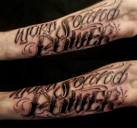 power tattoo custom lettering archives chronic ink