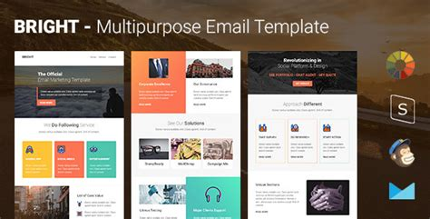 bright multipurpose responsive email template