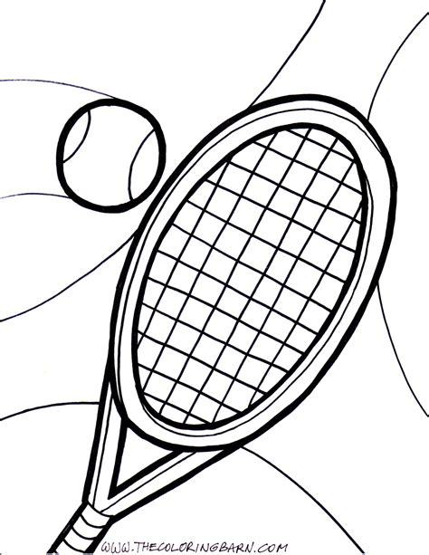 Tennis Racquet Coloring Pages Tennis Coloring Pages