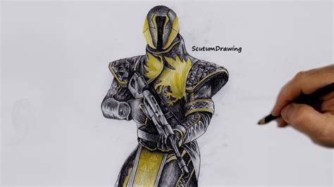 Destiny 2 Sketches by Warlock Speed Drawing How To Draw Destiny 2