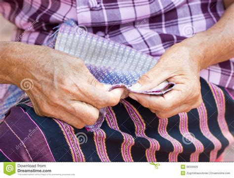 sewing upholstery by hand asian woman s hand sewing royalty free stock images