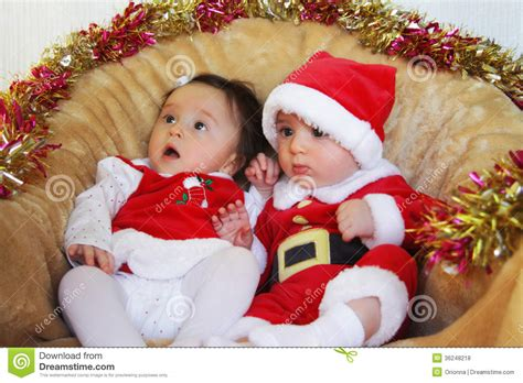 Christmas Funny Small Kids In Santa Claus Clothes Stock Photo Image Of Expression Caucasian Small Children Images