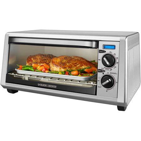 toasters at walmart black decker 4 slice toaster oven stainless steel to1430s walmart