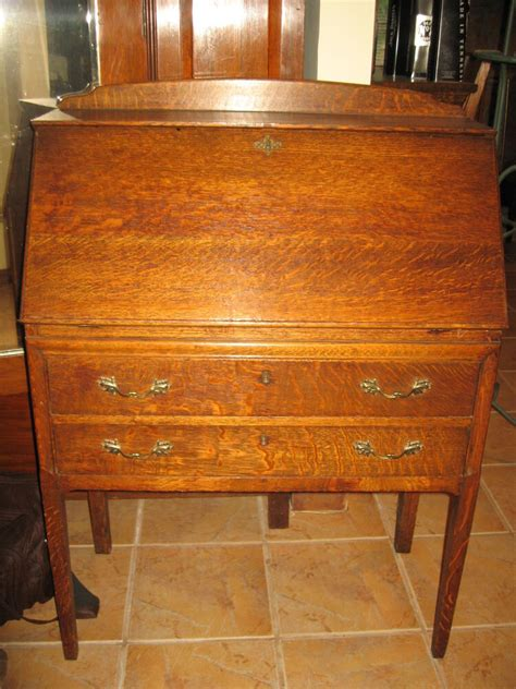 Antique Tiger Oak Desk by Antique Tiger Oak Drop Front Writing Desk C Late