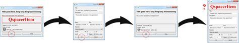 qt layout hide c qspaceritem changesize attracts bug stack overflow