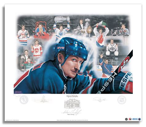 official website for nhl ice effects artist daniel parry wayne gretzky signed hockey hall of fame induction limited
