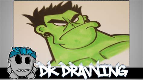 draw   graffiti character  hulk part