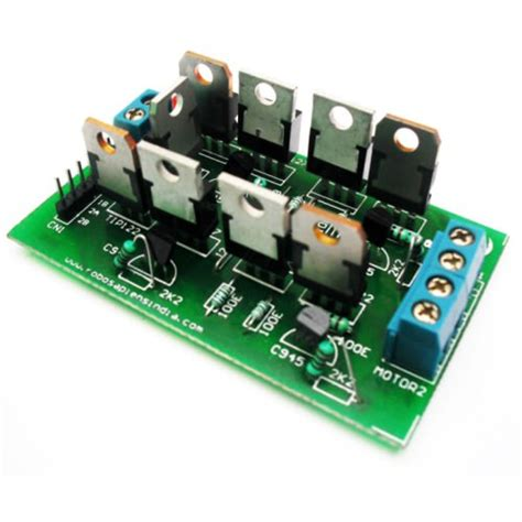 dual h bridge power transistor motor arduino board robomart