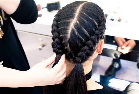braids to scape the boxer braid aka double french braid a how to coveteur