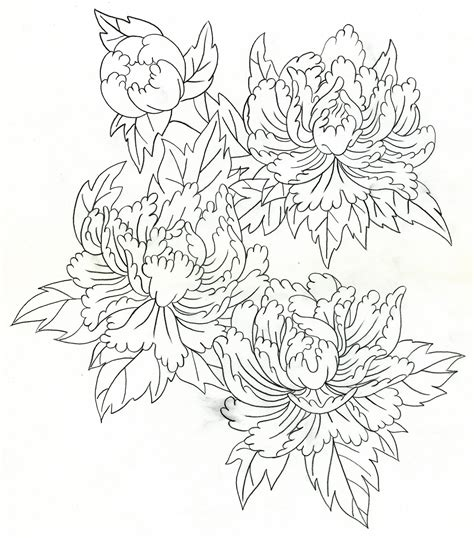 japanese peony tattoo designs mike s design april 2011
