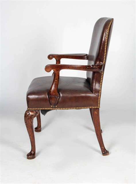 queen anne armchair queen anne style leather armchair for sale at 1stdibs