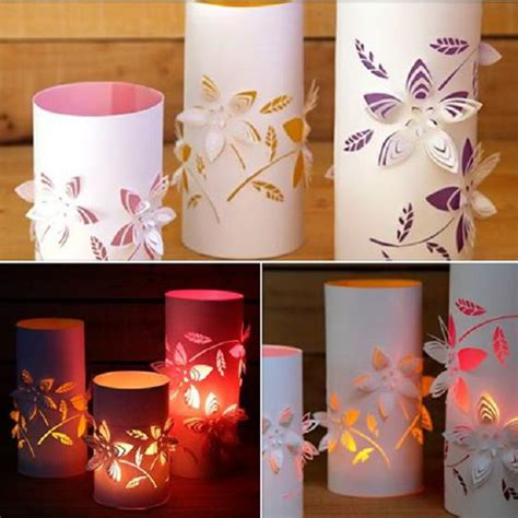 How To Make Paper Lanterns At Home - diy dimensional flower paper lanterns