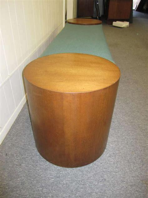 drum bench fabulous pop style walnut drum bench mid century modern