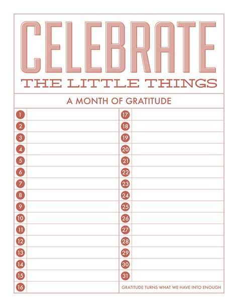 free printable gratitude journal celebrate the little things freebie gratitude free