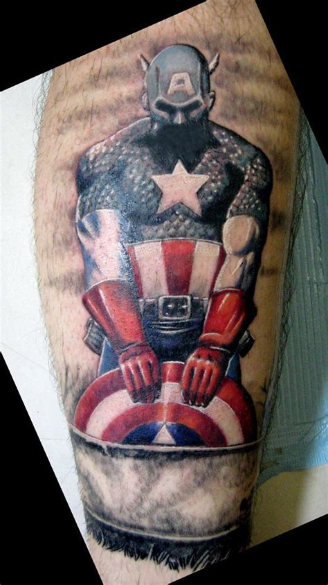 captain america tattoo captain america hubs