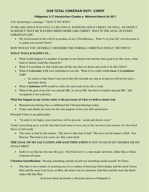 Christlikeness Sermon Outline by Philippians 3 Outline Now