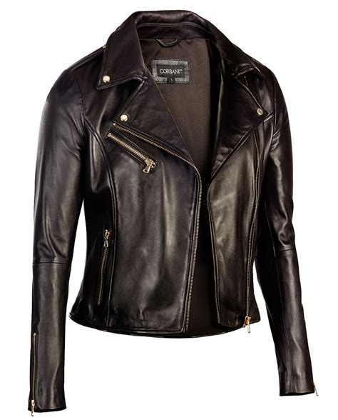 biker jacket womens black leather biker jacket gold hardware genuine