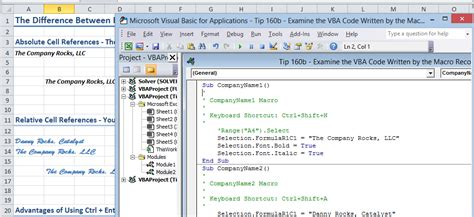 coding visual basic exles visual basic editor the company rocks