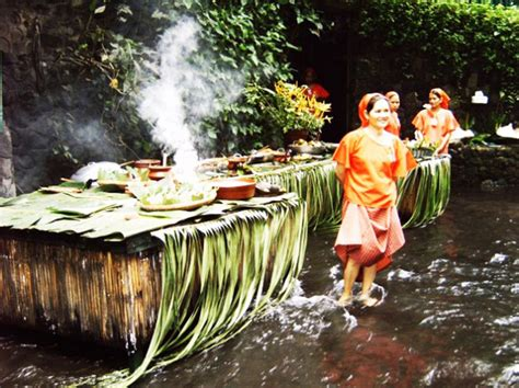 villa escudero waterfalls restaurant villa escudero s waterfall restaurant lets you dine at the