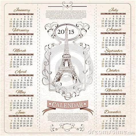 Calendario Retro Retro Calendar For 2015 Stock Vector Image 45730156