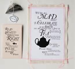 punch tea invitation