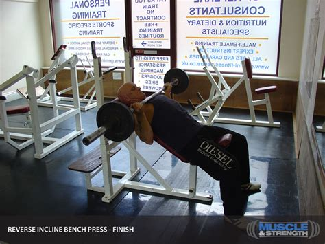 incline bench press tips reverse grip incline bench press video exercise guide