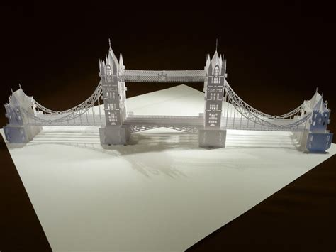 How To Make Paper Building Models - the tower bridge pop up origami architecture kirigami