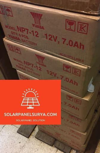 Battery Baterai Accu Aki Kering Yuasa 12v 12ah 12 12 jual aki kering yuasa 12v 7ah ups solar panel surya
