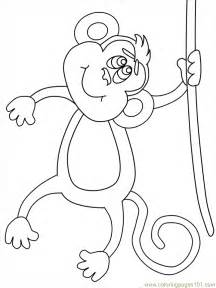 coloring pages monkey youtline animals gt monkey free