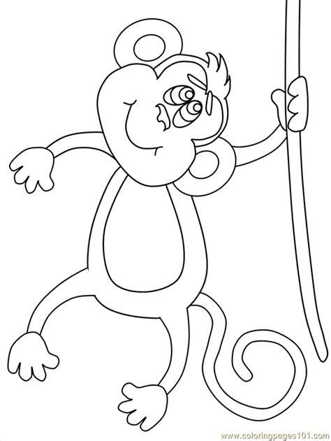 coloring page monkey hanging gallery for gt printable hanging monkey template coloring