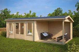 blockhaus garten garden log cabin with veranda d 12m 178 44mm 3 x 7 m