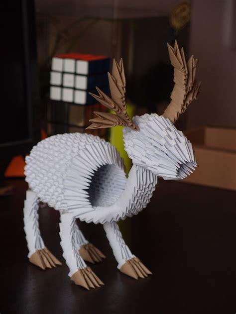 origami reindeer tutorial 132 best images about 3d origami on pinterest reindeer