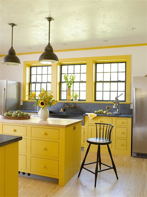 yellow grey kitchen kitchen ideas pinterest the o 11 mani 232 res de d 233 corer une cuisine en jaune et gris