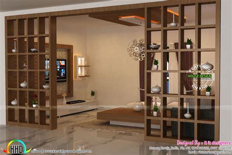 foyer interior living foyer stair interiors kerala home design