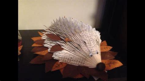 hedgehog book fold youtube