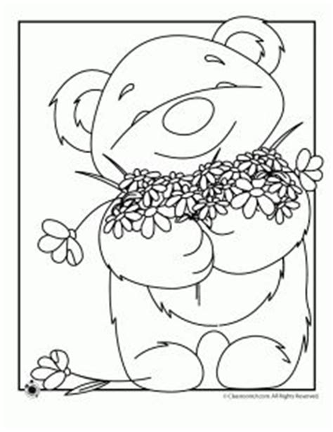 spring bear coloring pages 114 best images about teddy bears coloring art print pages