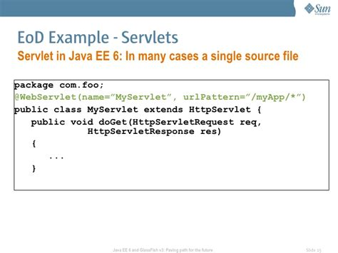servlet url pattern wildcard exles java ee 6 and glassfish v3 paving the path for future