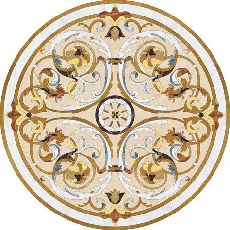 huntington beach marble medallion 60 quot round glamour flooring